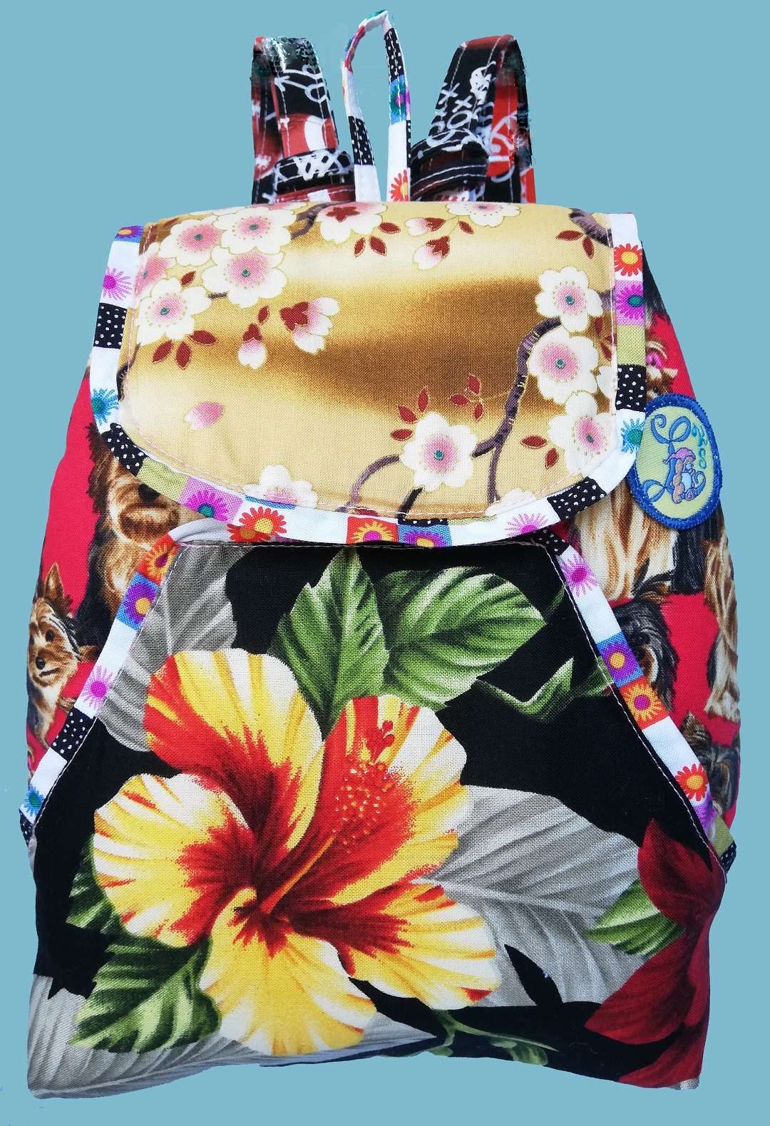 Floral & Dogs Backpack