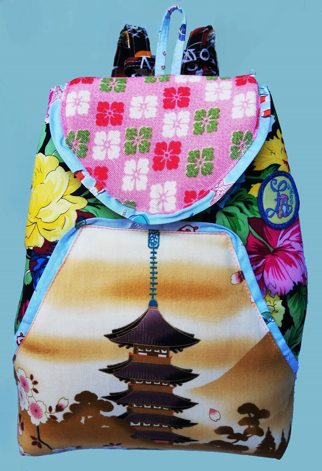 Floral & Multicolor Backpack